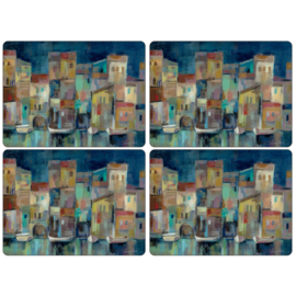 4 Placemats (40,1 cm.) - Pimpernel Evening Port