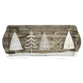 Sandwich Tray Wooden White Christmas (38,5 cm.) - Pimpernel