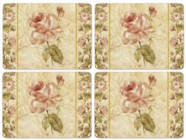 4 Placemats (40,1 cm.) - Pimpernel Antique Rose Linen