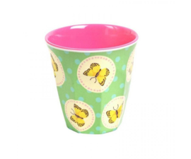 Bekertje Melamine Happy Butterflies Green (125 ml.) - Ginger