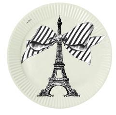 8 Papieren Borden Eifel (17,5 cm.) - Miss Étoile