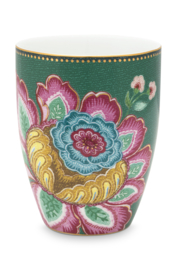 Beker Jambo Flower Green (300 ml.) - Pip Studio