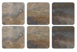 Onderzetters (6) - Pimpernel Earth Slate