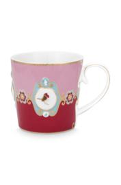 Mok Medallion Red Pink (250 ml.) - Pip Studio Love Birds