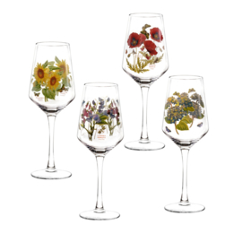 4 Wijnglazen (0,45 l.) - Portmeirion Botanic Garden