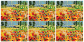 6 Placemats (30,5 cm.) - Pimpernel Impressionists Flowers