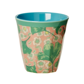 Melamine Beker Leaves & Flowers Medium - Rice