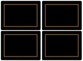 4 Placemats (40,1 cm.) - Pimpernel Classic Black