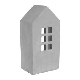 Kaarsenhouder House Grey (20 cm.) - Sema Design