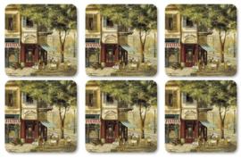 Onderzetters (6) - Pimpernel Parisian Scenes