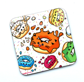 Onderzetter 'Tiger Donut Splat' - Fuzzballs