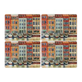 4 Placemats (40,1 cm.) - Pimpernel Boat Scene