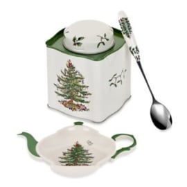 3-delige Theeset - Spode / Pimpernel Christmas Tree