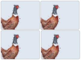 4 Placemats (40,1 cm.) - Pimpernel Wrendale Pheasant