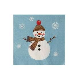Papieren Servetten Christmas Snowmen - Ulster Weavers