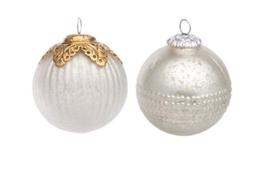 Set van 2 Kerstballen (10,2 & 11,3 cm.) - Ariadne At Home