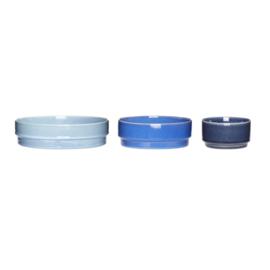 3-delige Schalenset Blue - Hübsch