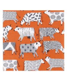 Papieren Servetten Curious Cows - Ulster Weavers