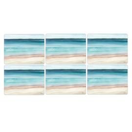 6 Placemats (30,5 cm.) - Pimpernel Coastal Shore