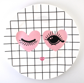 Dinerbord Heart & Eye (26 cm.) - Miss Étoile