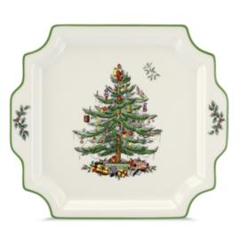 Vierkante Serveerschaal - Spode Christmas Tree