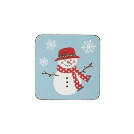 Onderzetters (4) Christmas Snowmen - Ulster Weavers