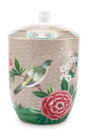 Voorraadpot Blushing Birds Khaki (1,5 l.) - Pip Studio