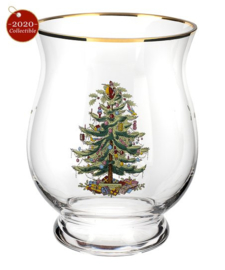 Windlicht (16,6 cm.) - Spode Christmas Tree