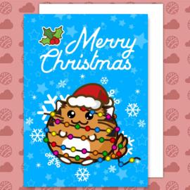 Kaart 'Merry Christmas' Tiger Lights - Fuzzballs