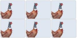 6 Placemats (30,5 cm.) - Pimpernel Wrendale Pheasant