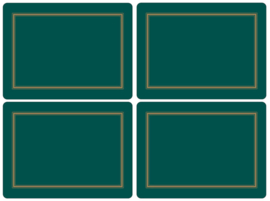 4 Placemats (40,1 cm.) - Pimpernel Classic Emerald