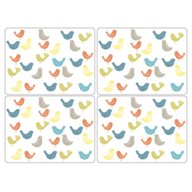 4 Placemats Scandic Birds (40 cm.) - Pimpernel Catherine Lansfield