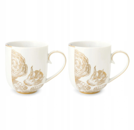 Cadeauset 2 Mokken Royal White I (325 ml.) - Pip Studio