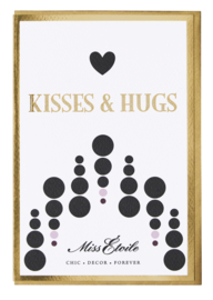 Ansichtkaart & Envelop Kisses & Hugs - Miss Étoile
