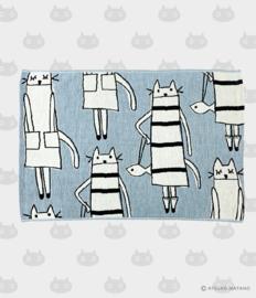 Hand- / Theedoek / Placemat Cat in New York (50 cm.) - Atsuko Matano