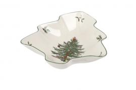 Kerstboomschaal (20,6 cm.) - Spode Christmas Tree