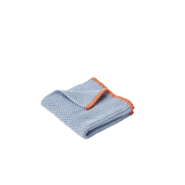 Gebreide Schoonmaakdoek Blue/Orange (30 cm.) - Hübsch