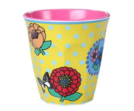 Beker Melamine Vintage Flowers (125 ml.) - Ginger