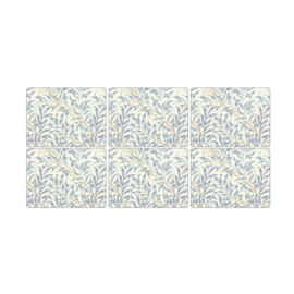 6 Placemats (30,5 cm.) - Pimpernel Morris & Co Willow Boughs Blue