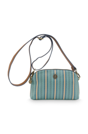 Cross Body Tas Small Blurred Lines Green (22 cm.) - Pip Studio
