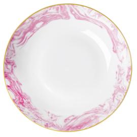 Schaal Marble Bubblegum Pink (26,8 cm.) - Rice