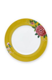 Dinerbord Blushing Birds Yellow (26,5 cm.) - Pip Studio