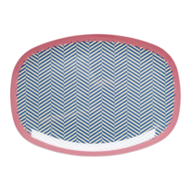 Melamine Bord Sailor Stripe (30 cm.) - Rice