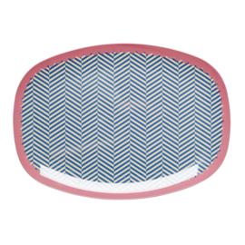 Melamine Bord Sailor Stripe (30 cm.) - Rice