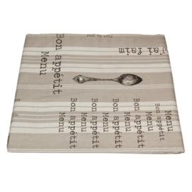 Tafelkleed Menu & Spoon Grey - Campagne