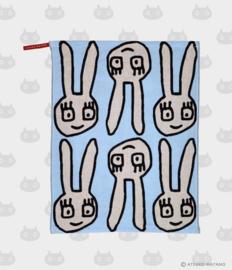 Hand- / Theedoek / Placemat Yuru Usa Blue (45 cm.) - Atsuko Matano
