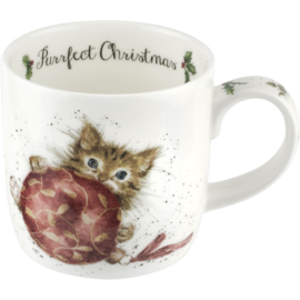 Mok Purrfect Christmas (0,31 l.) - Wrendale Designs