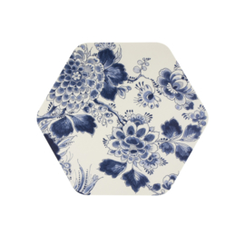 Placemat Hexagon Flora & Fauna (40 cm.) - Royal Delft