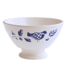 Kom (13 cm.) Pigeon Blauw - Dépôt d'Argonne