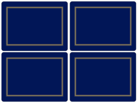 4 Placemats (40,1 cm.) - Pimpernel Classic Midnight